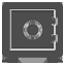 Icona cassaforte, sicurezza informatica