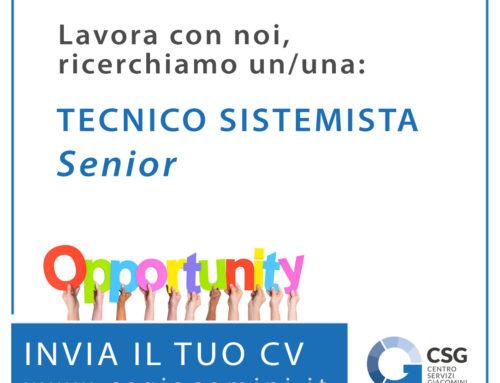 Tecnico sistemista senior – offerta di lavoro a Udine